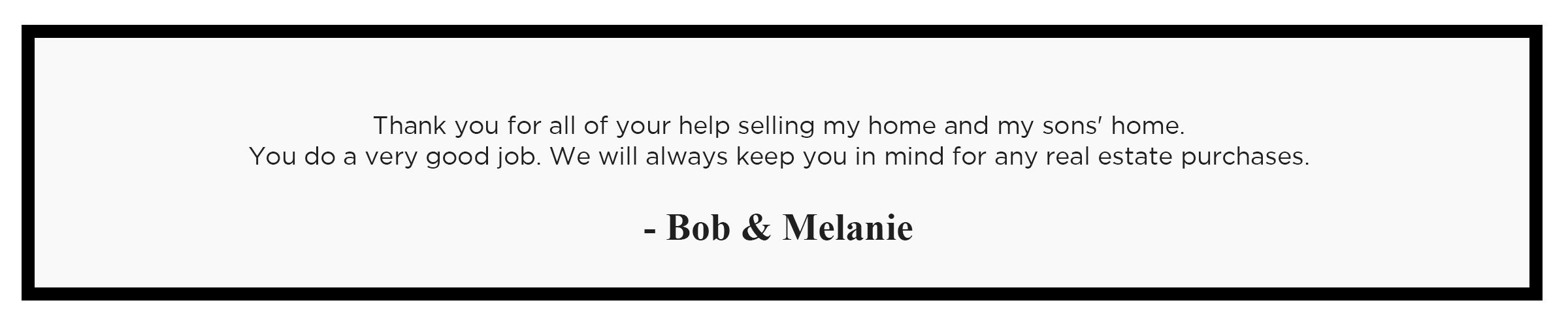 01 - bob & melanie